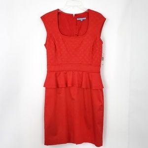 Antonio Melani NWT Sheath Dress Peplum Waist SZ 10